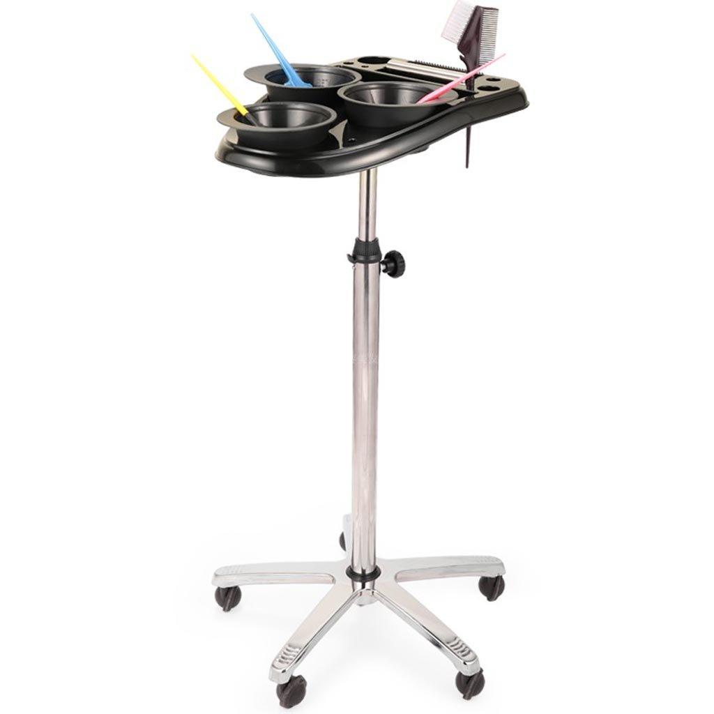 NPZ Tool Cart - Beauty Hairdressing Supplies Hair Dyed Enamel Paint Paste Bowl Rack Shelf Hair Dye Rack Dye Tool Cart Storage cart (Color : A, Size : 50cm(70-105) cm) by NPZ