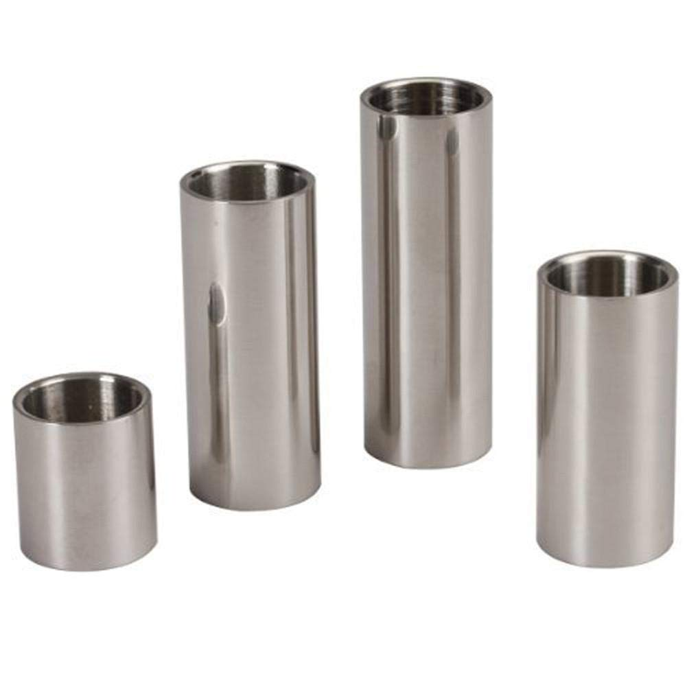 Bulary 4PCS a Set Stainless Steel Guitar Slider Bakelite Guitar Finger Sleeve Guitar Accessories Guitarra Slider Length 28 51 60 70 mm