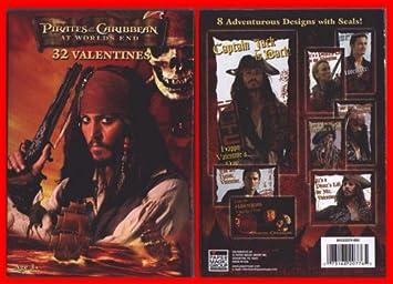Pirates of the Caribbean Valentine Cards /& Pencils