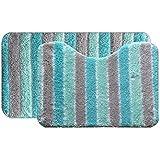 Jogo de Tapetes Microfibra para Banheiro 2 Peças Soft Decor Bella Casa Verde