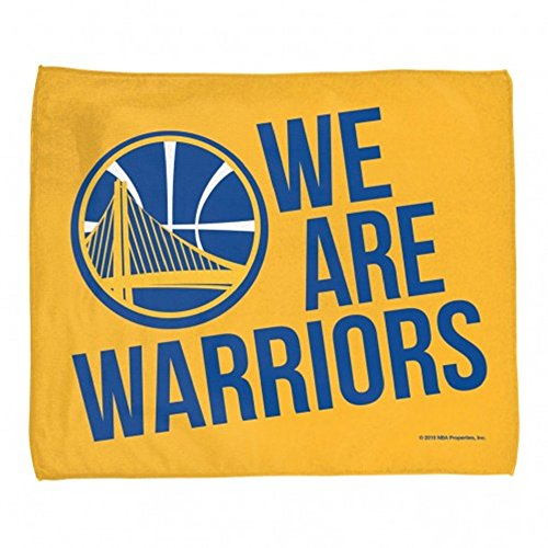 """Golden State Warriors NBA """"We Are Warriors"""" Rally Towel-Gold-15x18"""""""
