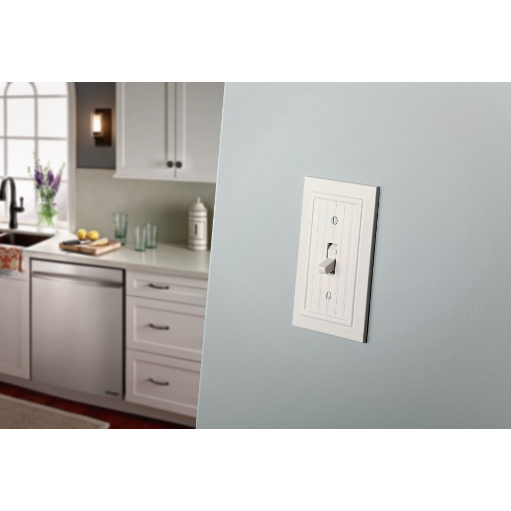 Franklin Brass W35265V-PW-C Classic Beadboard Single Switch Wall Plate/Switch Plate/Cover (3 Pack), Pure White by Franklin Brass (Image #2)