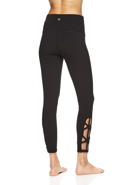 3aeb75105d0 Amazon.com  Gaiam Women s Om High Rise Waist Yoga Pants - Performance  Spandex Compression Leggings  Clothing