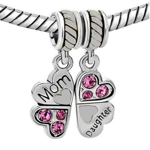 Mother Daughter Heart Butterfly Bracelet product image