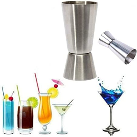 Acier inoxydable Double Face Doseur Mesureur Doseur m/élangeurs /à cocktail Bartender liqueur Tasse /à mesurer