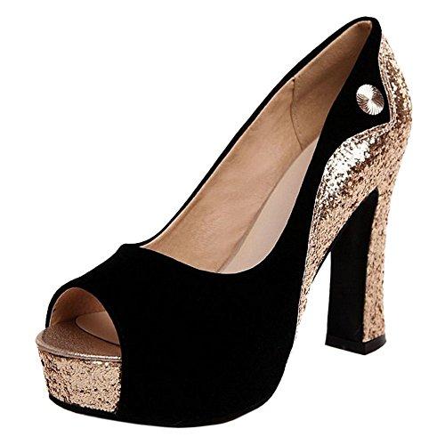 Coolcept Mujer Sin Cordones Bombas Zapatos Black