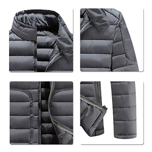 Court Hiver Caban Casual Chaud Gris Trench coat Manteau Homme Allthemen Coton zwH747q