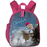 Baby Boys Girls Toddler Christmas Pre School Lunch Bag Pink