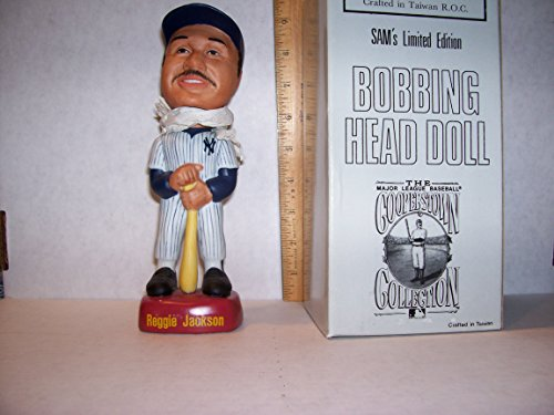 1992 SAM REGGIE JACKSON BOBBLEHEAD HOME WHITE UNIFORM IN PINSTRIPES N.Y. YANKEES - Reggie Jackson Uniform
