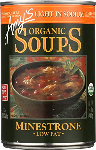 - (NOT A CASE) Organic Soup Low Fat Minestrone Light in Sodium