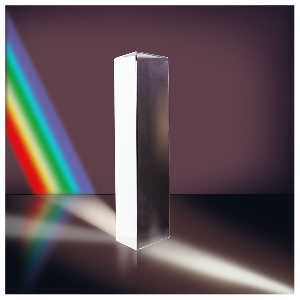 8 Inches 200mm Optical Glass Triangular Prism Triple Prism for Photography //Physics Teaching Light Spectrum Optics Kits Excel Life