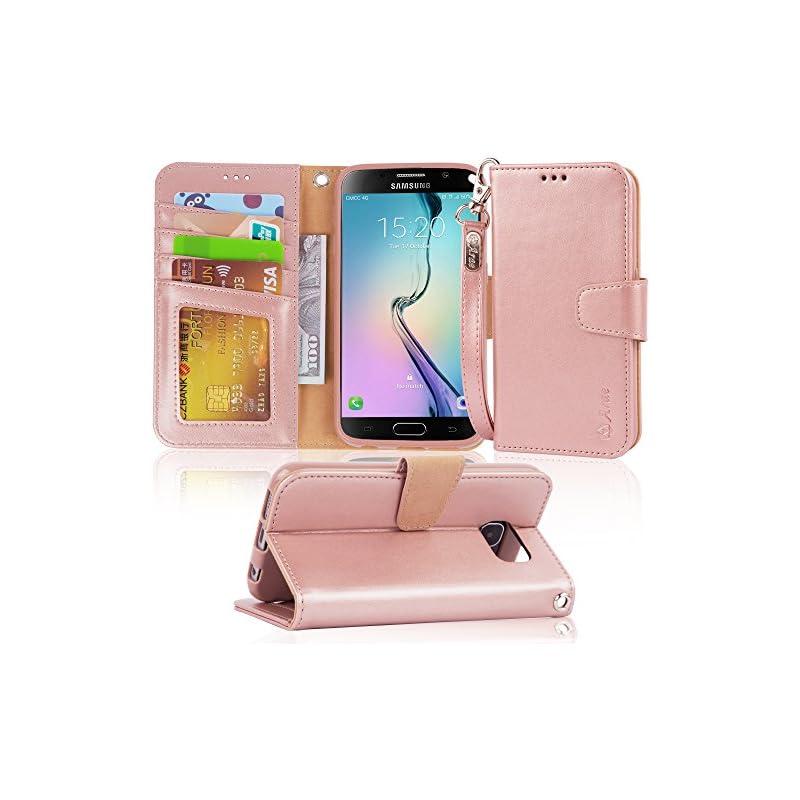 S6 Case, Arae Samsung Galaxy S6 Wallet c