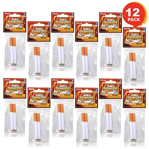 "ArtCreativity 3.25"" Fake Puff Cigarettes That Blow Smoke (12 Pack) 