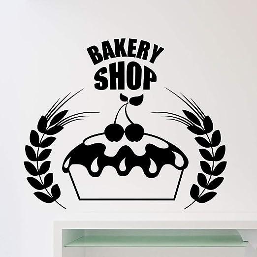 woyaofal Pasteles Bakery Shop Logo Etiqueta de la Pared Bakeshop ...