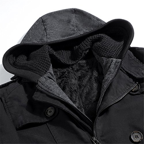 cotton HHY wear men's M coats warm black the winter padded casual with Europe cap and vwqvW6gU