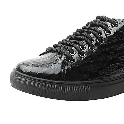 Scarpe Da Ascensore Da Uomo Chamaripa Sneaker Da Skate In Pelle Scamosciata - Aumento Di 7,5 Cm - K70m83-1 Blau01