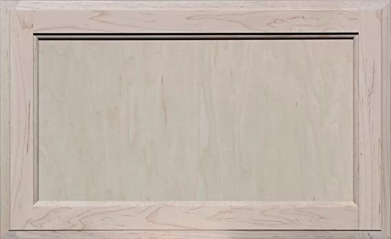 10H x 23W Unfinished MDF Square Flat Panel Drawer Front by Kendor