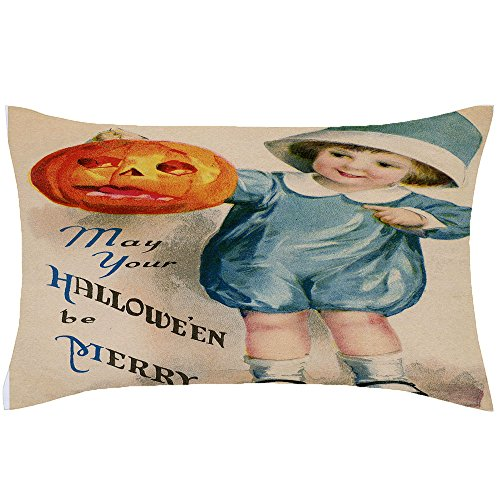 Vintage Lamb Baby Costumes (PaigeHamelf Adorable Vintage Halloween Pillow Covers Decorative Halloween Accent Pillows Pillowcase 13 x 21 Inch For Sofa)
