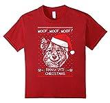 Kids Woof Finnish Spitz Christmas Shirt Funny Xmas Gift 10 Cranberry