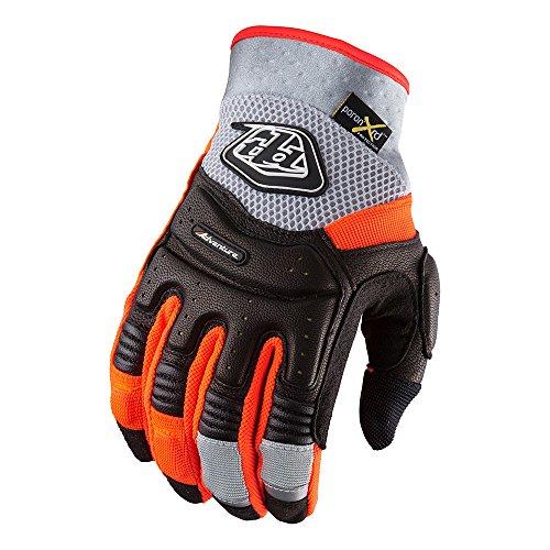 Adventure Gloves (Troy Lee Designs Adventure Radius Mens MX/Offroad Gloves Gray/Black/Red LG)
