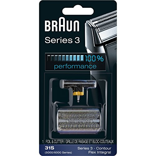 Braun Series 3 31S Foil & Cutter Replacement Head, Compatible with Previous Generation Series 3, Contour, Flex XP, and Flex integral