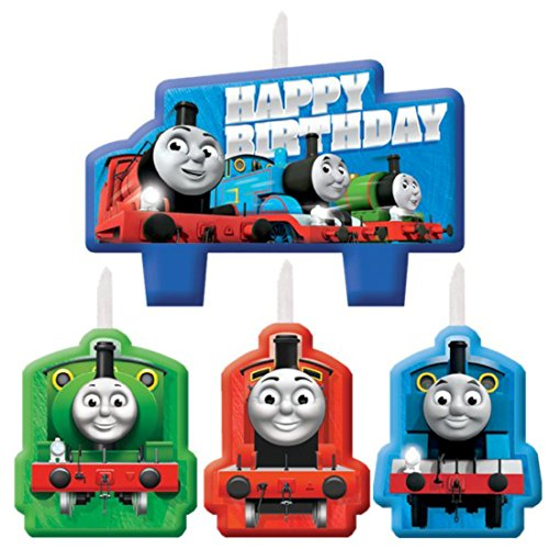 Thomas the Train Tank Engine (Thomas & Friends) Kids Birthday Party Candle Set for $<!--$7.42-->