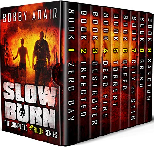 Slow Burn Box Set: The Complete Post Apocalyptic Series (Books 1-9) by [Adair, Bobby]