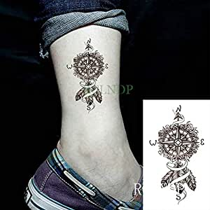 tzxdbh Etiqueta engomada del Tatuaje a Prueba de Agua Sun Moon ...