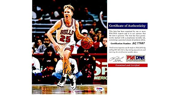 35481ac45f7f Steve Kerr Signed Picture - 8x10 5x Champion Certificate of Authenticity COA)  - PSA DNA Certified - Autographed NBA Photos at Amazon s Sports  Collectibles ...