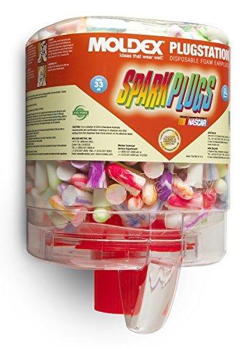 Moldex 6644 Sparkplug EarPlugs, 4 Dispensers of 250 Pairs