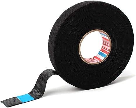 tesa Pet Cinta Adhesiva de Tela no Tejida (19 mm x 15 m), Color: Negro, para mazos de Cables domésticos o automotrices: Amazon.es: Electrónica