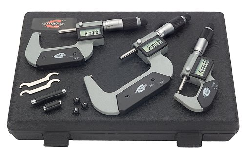 45 IP54 LCD Outside Micrometer Set, 0-3