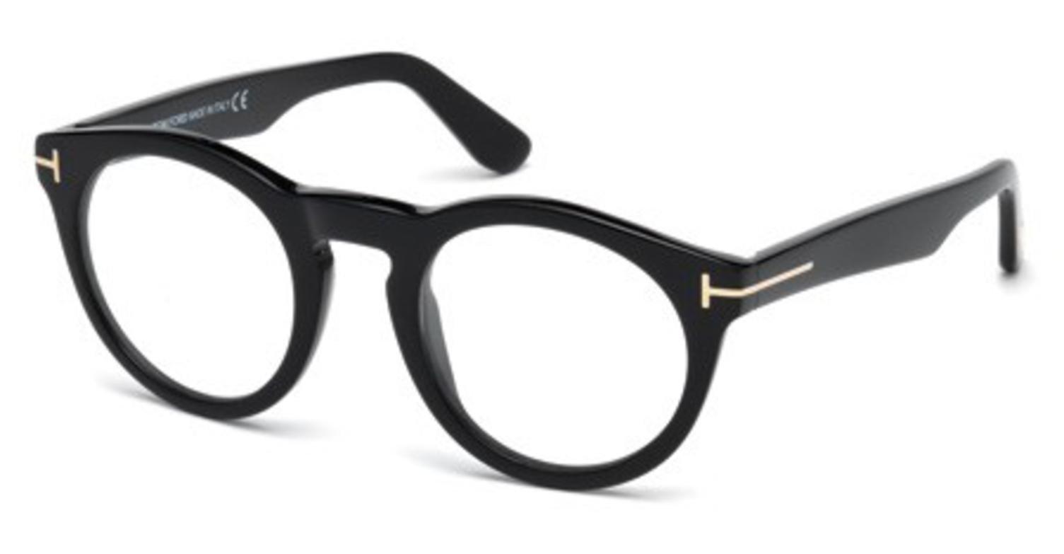 Tom Ford FT5459 Eyeglasses 48 001 Shiny Black