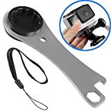 Mekingstudio Aluminum Alloy The Tool Thumb Screw Wrench Spanner with Wrist Strap + Bottle Opener - A Usful Key Chain Pendant Accessories for GoPro Xiaomi Yi Sj5000 and more Action Camera