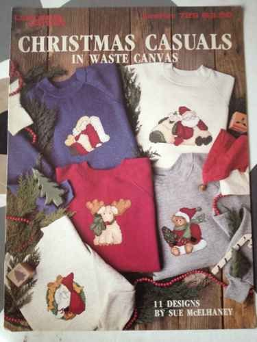 Christmas casuals in waste canvas: 11 designs