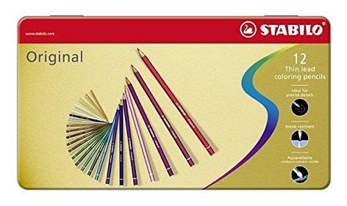 STABILO Original matite colorate colori assortiti - Scatola di metallo da 12 Stabilo International GmbH 8773-6 Matitecolorate Pastelli