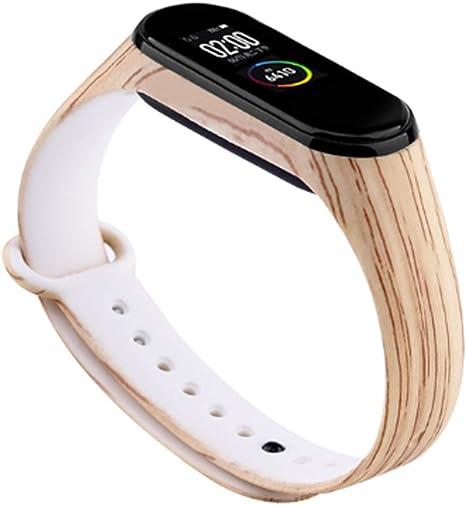 Pulsera de Silicona Wood Color Madera Clara para Xiaomi Mi Band 4: Amazon.es: Electrónica
