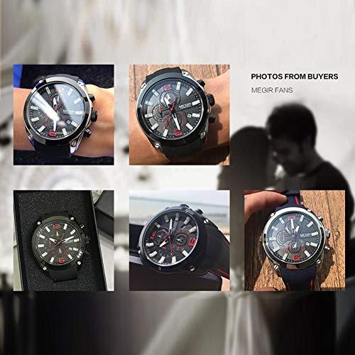 foreverwen Luminous Quartz Watch Fashion Casual Business Dress Wristwatch Waterproof Full Stainless Steel Analog Chronograph Three Time Keeping Indicator by foreverwen (Image #3)