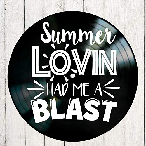 Summer Lovin' song lyrics from the musical Grease on a Vinyl Record Album Wall Art]()