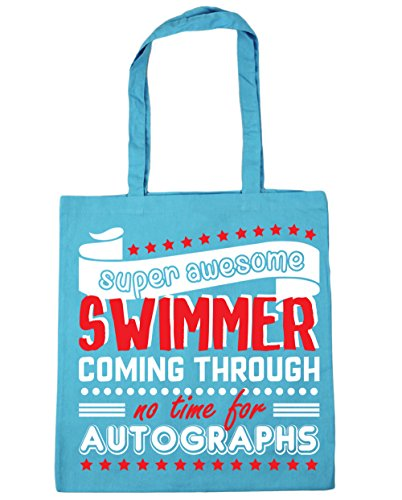 10 No Gym litres Blue Coming Through For 42cm Bag Swimmer Beach HippoWarehouse Shopping Swimming Autographs Tote Time x38cm Super Awesome Surf 7qwTwXg