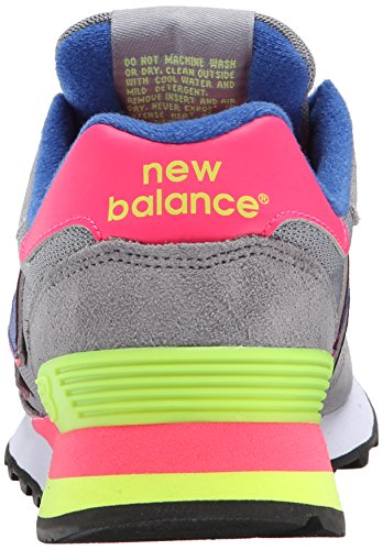 New Balance 515 Classic Traditionnels, Sneakers basses femme Grey / Pink / Yellow