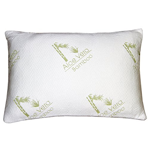 Bamboo aloe vera shredded memory foam pillow sleep for Better than my pillow