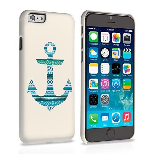 Caseflex iPhone 6 / 6S Hülle Blau Aztekisch Anker Hart Schutzhülle
