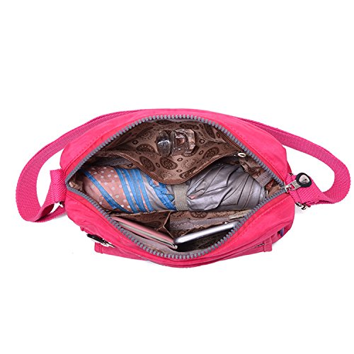 Impermeabile Spalla Borsello Nylon Donna Borsetta Messenger Ragazza Sacchetto Per Tracolla Griffate Borsa Sport Bag Borse A Rosso Scuola Mare Studenti Mecooler Tasca Tablet SwqxX07W
