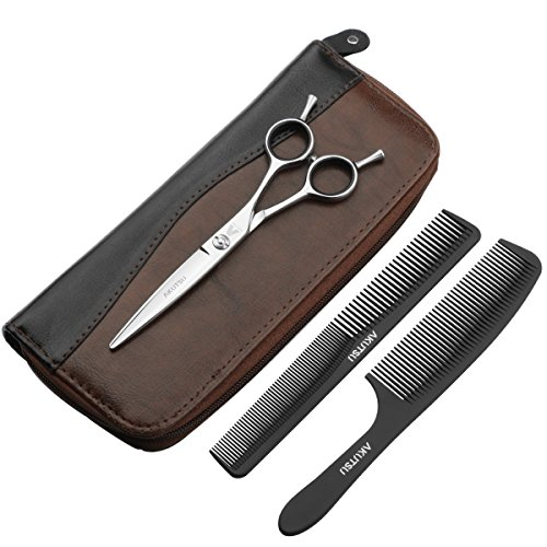 AKUTSU Professional Barber 6.0 Inch A Style Razor Edge Hair Cutting Shears / Scissors (Straight Blade)
