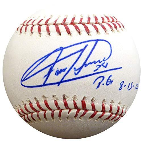 - Felix Hernandez Signed Auto Major League Baseball Seattle Mariners PG 8-15-12 - PSA/DNA Authentic
