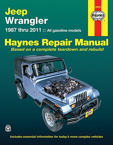 Jeep Wrangler 1987 - 2011 Repair Manual (Haynes Repair Manual (Paperback))
