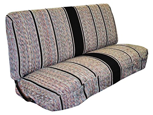 West Coast Auto Universal Baja Saddle Blanket Bench Full Size Seat Cover Fits Ford, Chevrolet, Dodge, and Full Size Pickup Trucks (Back Bench Cover)