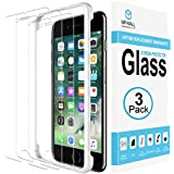 [3-Pack] MP-MALL iPhone 7 Plus Screen Protector, [Case Friendly] Tempered Glass [Alignment Frame Easy Installation] Lifetime Replacement Warranty
