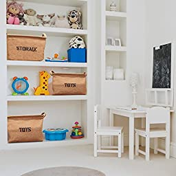 Betty Rhae Toy Storage Basket for Nurseries/Babies/Kids and Home, Organizing Bin for Clothing/Children Books/Bath Toys/Dog Supplies/Playrooms/Bookshelves or Office Supplies Any Room of the House